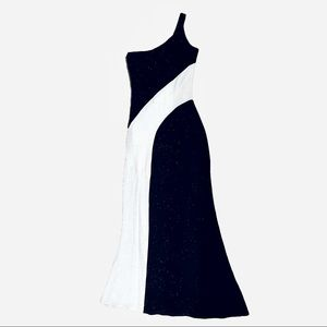 Art Deco black and white formal gown - 7/8
